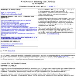 Constructivist Teaching and Learning