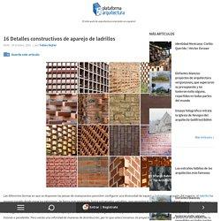 16 Detalles constructivos de aparejo de ladrillos