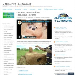 Construire un cuiseur à bois «écolomique en terre