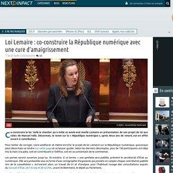 Loi Lemaire: co-construire la République numérique avec une cure d'amaigrissement