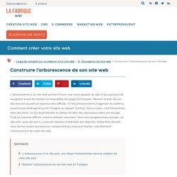 Construire l'arborescence de son site web
