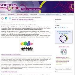 Comment construire un atelier de créativité ? - Sciences Essonne