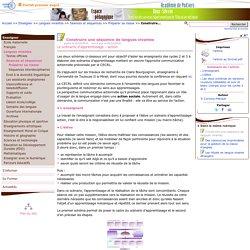 Construire une séquence de langues vivantes- Pédagogie - Direction des services départementaux de l'éducation nationale du 79