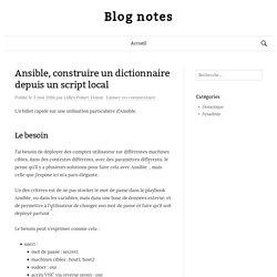 Ansible, construire un dictionnaire depuis un script local
