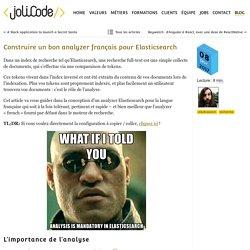 Construire un bon analyzer français pour Elasticsearch