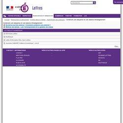 Construire une séquence et une séance d'enseignement — Site Lettres de l'académie de Lille