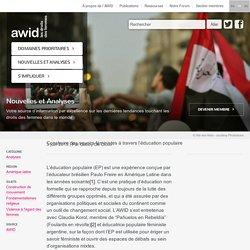 Construire des savoirs féministes à travers l'éducation populaire