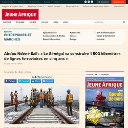 Abdou Ndéné Sall: « Le Sénégal vaconstruire 1 500kilomètres de lignes ferroviaires en cinq ans»