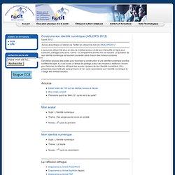 Construire son identité numérique (AQUOPS 2012)