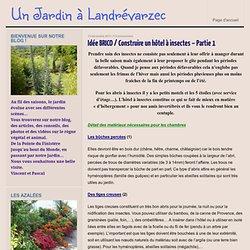 Un Jardin à Landrévarzec » Idée BRICO / Construire un hôtel à insectes – Partie 1