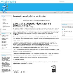 Construire un régulateur de tension