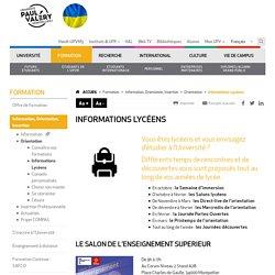 Construire son orientation post-bac : Université Montpellier