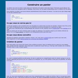 Construire un panier virtuel en PHP