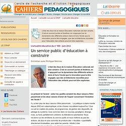 Un service public d'éducation à construire