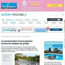 Construire sa piscine : les étapes entre le projet et le premier plongeon