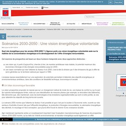 ADEME - Scénarios Mix energetique 2030-2050