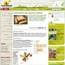 Bricolage jardin pearltrees - Construire une table de jardin ...
