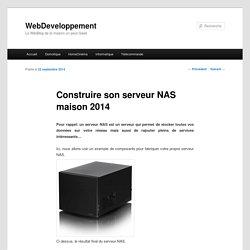 Construire son serveur NAS maison 2014