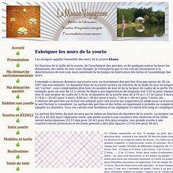 Construire sa yourte : Les murs de la yourte ou khana
