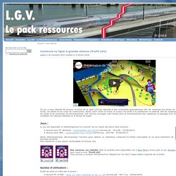 Construis ta ligne à grande vitesse - Pack ressources LGV