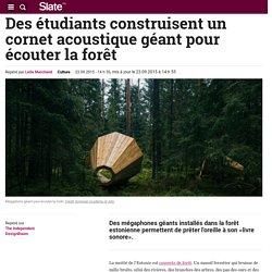 Des étudiants construisent un cornet acoustique géant pour écouter la forêt