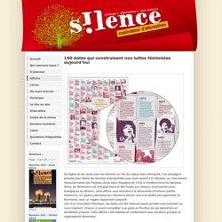 AFFICHE histoire des luttes féministes (revue silence)