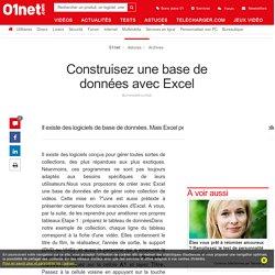 Construisez une base de données avec Excel