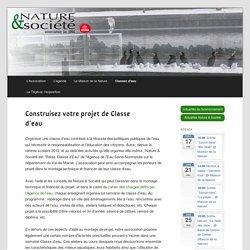 Nature et Société - Construisez votre projet de Classe d'eau