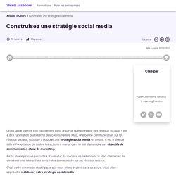 Construisez une stratégie social media