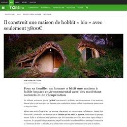 """Il construit une maison de hobbit """"bio"""" avec seulement 3800€"""