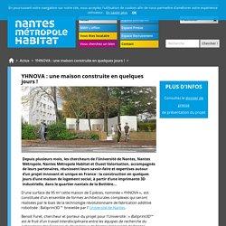YHNOVA : une maison construite en quelques jours ! / Actus / nmh.fr - OPHLM Nantes Métropole Habitat