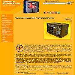 Construya una consola activa o amplificada