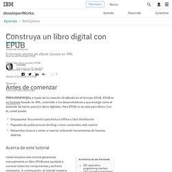 Construya un libro digital con EPUB