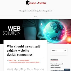 Why should we consult calgary website design companies