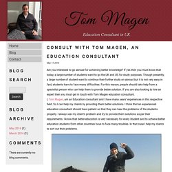 Consult with Tom Magen, An Education Consultant