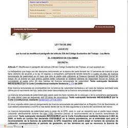 Ley 755 de 2002