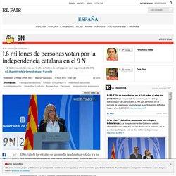 Consulta catalana: 1,6 millones de personas votan por la independencia catalana en el 9-N