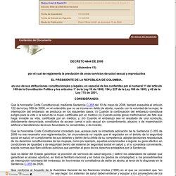 Decreto 4444 de 2006