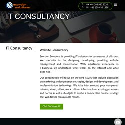 IT Consultancy Company in Noida