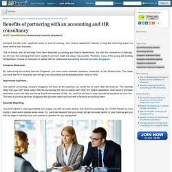 Benefits of partnering with an accounting and HR consultancy