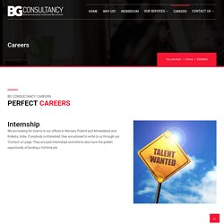 Careers @ BG Consultancy - Find Vacancies Information