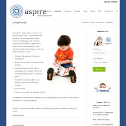 Aspire Early Intervention Consultancy in Australia