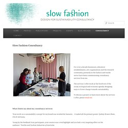 Slow Fashion Consultancy
