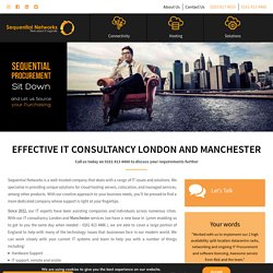 IT Consultancy London and Manchester