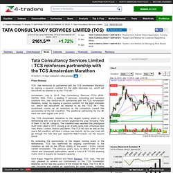 Tata Consultancy Services Limited : TCS reinforces partnership with the TCS Amsterdam Marathon