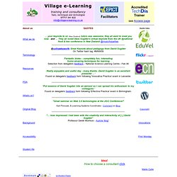 The main page of Village e-Learning Consultancy. David Sugden proprietor. David Sugden email