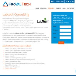 Labtech Consultant - Labtech Administrator and Consulting By Proval Tech