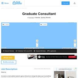 Graduate Consultant at Innovaris, Remote, Sydney, Remote