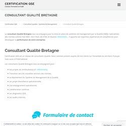 Consultant Qualité Bretagne - Certification QSE