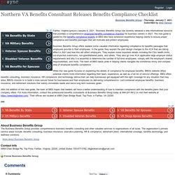 Northern VA Benefits Consultant Releases Benefits Compliance Checklist